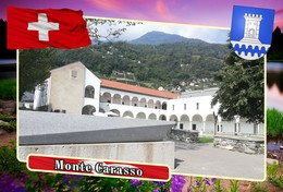 Postcard, REPRODUCTION, Municipalities Of Switzerland, Monte Carasso - Cartes Géographiques