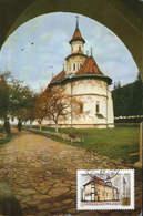Romania -  Maximum Postcard,maxicard  1966 -  Church Of Monastery Putna ,Suceava County  - 2/scans - Iglesias Y Catedrales