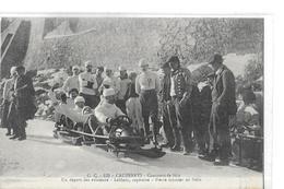 CAUTERETS C.C 129 CONCOURS DE SKIS   DEPART AVIATEURS LEBLANC  CAPITAINE P. GASNIER AU FREIN  BOB A 4   DEPT 65 - Cauterets