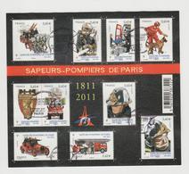 """FRANCE / 2011 / Y&T N° 4582/4591 En Bloc Ou F4582 (Feuillet """"Sapeurs-pompiers De Paris)"""" - Oblitéré 1er Jour. SUPERBE ! - Blocs & Feuillets"""