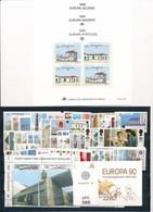 DI-578A: EUROPA:  Lot** Avec Année Partielle 1990 (complet Sauf Pologne) + Carnets Suède Et Grèce - Otros - Europa