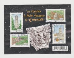 """FRANCE / 2012 / Y&T N° 4641/4644 En Bloc Ou F4641 (Feuillet """"Saint-Jacques De Compostelle"""" - Fond Noir) - Oblitéré FDC - Blocs & Feuillets"""