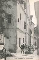 Zanzibar Tanzanie Carte Ancienne Une Rue De Zanzibar Cpa Carte Animée - Tanzanie