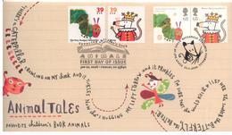 Usa Grande Bretagne 2006 FDC Mixte Livres Pour Enfants Emission Commune - USA UK Joint Issue Mixed FDC Animal Tales - Gemeinschaftsausgaben