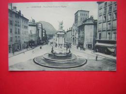 CPA  GRENOBLE  PLACE NOTRE DAME ET L'EGLISE    NON VOYAGEE - Grenoble