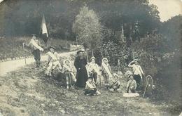 RARE CARTE PHOTO - SCOUTISME - COLONIES DE VACANCES - LOUVETAUX - PATRONNAGE - TRES BEAU PLAN - Scoutismo