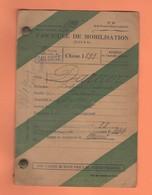 538 FASCICULE DE MOBILISATION MILITAIRE CLASSE 1899 SEYSSES MURET - Dokumente