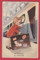 Couvin - Un Bonjour De ... Carte à Système , Peu Courante - 1950 ( Voir Verso ) - Couvin