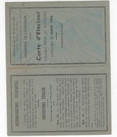 535 CARTE ELECTEUR  SENTENAC Secrétaire De Mairie 18 SEPT 1945 FROUZINS Département Du 31 BERDEIL MAIRE - Mapas