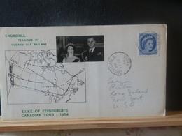 A12/904A  LETTRE POUR USA  1954 - 1952-.... Règne D'Elizabeth II