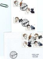 2666/69 Musique Et Littérature - Sur Feuillet Et Lettre 2 Cachets DIFFERENTS De Prévente (voir Scan & Descr) - Postmark Collection