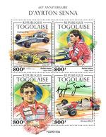 Togo 2020 60th Anniversary Of Ayrton Senna. (0153a) OFFICIAL ISSUE - Automobilismo