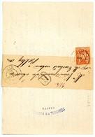 AIN BJ AVEC SON IMPRIME 1892 NANTUA T84 SUR SAGE TIMBRE DFT - Marcophilie (Lettres)