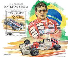 Togo 2020 60th Anniversary Of Ayrton Senna. (0153b) OFFICIAL ISSUE - Automobilismo