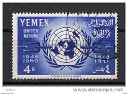YEMEN:  1961  O.N.U.  -  4 B. BLU  US. -  YV/TELL. 92 - Jemen