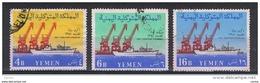 YEMEN:  1961  INAUGURAZIONE  HODEIDA  -  S. CPL. 3  VAL. US. -  YV/TELL. 96/98 - Jemen