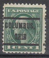 USA Precancel Vorausentwertung Preo, Locals Ohio, Columbus 1912-212 - Voorafgestempeld
