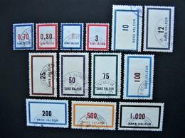 FICTIFS OBLITERES N°F116 à F128 (FICTIF F 116 à F 128) SERIE COMPLETE EMISSIONS DE 1956 - Fictie
