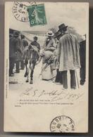 Marché - 1908 - Foire Aux Bestiaux - Vache - Collection Frazine - Librairie Barraud - Angoulème - Patois - Animée - Fairs