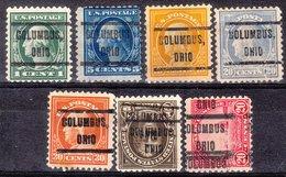 USA Precancel Vorausentwertung Preo, Locals Ohio, Columbus 212, 7 Diff. Perf. 11x11 - Voorafgestempeld