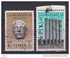 YEMEN:  1961  MAREB  -  2  VAL. US. -  YV/TELL. 101 + 102 - Jemen
