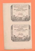 528 PAIRE VERTICALE ASSIGNAT DE 50 SOLS  SERIE 1755  SAUSSAY Loi Du 23 Mai 1793 - Münzen & Banknoten