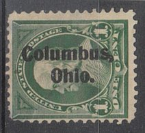 USA Precancel Vorausentwertung Preo, Locals Ohio, Columbus 1898-L-1 TS, Stamp Thin - Voorafgestempeld