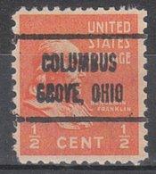 USA Precancel Vorausentwertung Preo, Locals Ohio, Columbus Grove 725 - Voorafgestempeld
