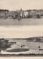 AUDIERNE - 2 CPA : Le Port Et La Ville - L'entrée Du Port - Audierne