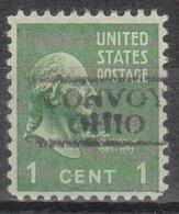 USA Precancel Vorausentwertung Preo, Locals Ohio, Convoy 728 - Voorafgestempeld