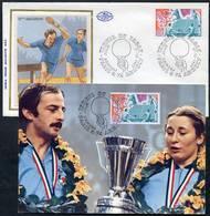 = FRANCE 1977 - Lot Carte Et Enveloppe FDC N 1961 + Cachet / Postmark - Tennis Table Tischtennis Tavolo - AFCTT - Tennis Tavolo