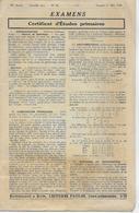 28. Exempaires  EXAMENS  CERTIFICAT D' ETUDES PRIMAIRES  Années 1929-1930 - Diplômes & Bulletins Scolaires