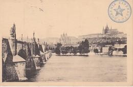 AKEO Card Czech Republic - Prague - Castle - Vltava River - Text In Esperanto - 1920 Karto Pri Prago - Esperanto