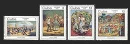 CUBA 1970 - PINTURAS SOBRE EL FOLKLORE - YVERT Nº 1444/1447** - Cuba