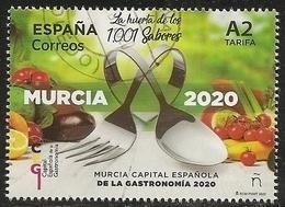 2020-ED. 5379 - Capital Española De La Gastronomía 2020. Murcia - USADO - 1931-Oggi: 2. Rep. - ... Juan Carlos I
