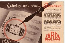 CP Publicitaire : Montres SARDA à Besançon - Publicité