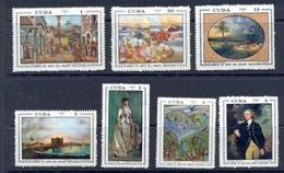 CUBA 1971 - PINTURAS DEL MUSEO NACIONAL - YVERT Nº 1548-1554** - Cuba
