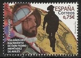 2020-ED. 5382 - 500 Años Nacimiento De D. Pedro Menéndez De Avilés - USADO- - 1931-Oggi: 2. Rep. - ... Juan Carlos I