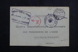 FRANCE - Carte De Réception De Colis D'un Prisonnier De Guerre En Allemagne Pour Château Thierry En 1917  - L 61637 - Guerre De 1914-18