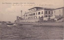 AKEO Card About San Vincenzo - Italy - Sea - Written In Esperanto 1919 - Karto Skribita En Esperanto - Esperanto
