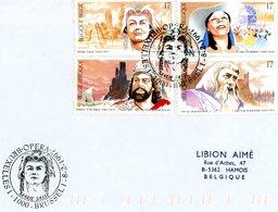 2686/89 Théâtre De La Monnaie : Cachet De Prévente Sur Lettre Ayant Circulé (voir Scan & Descr) - Postmark Collection