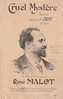 (POUSTHOMIS )CRUEL MYSTERE ,   J NOTE , Paroles Et Musique RENE MALOT , - Partitions Musicales Anciennes