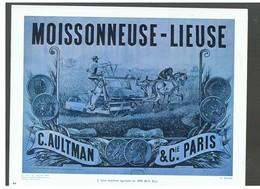 Agriculture : Une Machine Agricole En 1878 Moissonneuse-lieuse C. AULTMAN D.P. N°113 H De Février 1964 Photo N°2 - Repro's