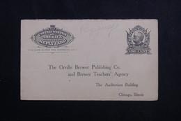 ETATS UNIS - Entier Postal Réponse Commerciale De Chicago ( Repiquage Au Verso ) Non Circulé - L 61644 - ...-1900