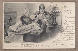 CPA TUNISIE - Juive Tunisienne - TB PLAN  PORTRAIT Femme Dans Un Fauteuil Fumant - JUDAICA - TB Oblitération 1902 - Tunisie