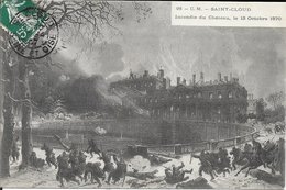 92 Saint-Cloud - Incendie Du Château, Le 13 Octobre 1870 Guerre Franco-prusienne 1907 TB - Saint Cloud