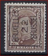 Koning Albert I Nr. 136 (type Niet Nagezien) België Typografische Voorafstempeling Nr. 58 A BRUXELLES 22 BRUSSEL ! - Préoblitérés
