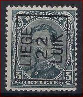 Koning Albert I Nr. 183 (type Niet Nagezien) België Typografische Voorafstempeling Nr. 65 A   LIEGE  22  LUIK ! - Préoblitérés