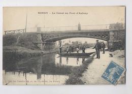 BONDY - 93 Seine Saint Denis -  Le Canal Au Pont D'Aulnay - Pêcheurs - Animée - Bondy