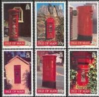 Ile De Man Yvertn° 830-35 *** MNH Cote 9,00 Euro Post Box Postbus - Isle Of Man